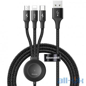 Кабель BASEUS Combo Micro USB/Lightning/Type-C/Apple Watch Star Ring Series Grey