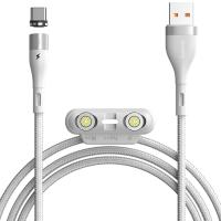 Кабель Baseus Zinc Magnetic Safe Fast Charging Data Cable (CA1T3-A02) White 1m