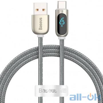 Кабель BASEUS Type-C Display Fast Charging Data Cable (CATSK-0S) Silver