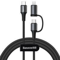 Кабель Baseus Yiven Cable 2in1 Type-C/Type-C+Lightning Black (CATLYW-01)