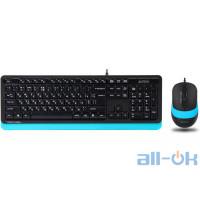 Комплект (клавіатура + миша) A4Tech Fstyler F1010 Black/Blue UA UCRF
