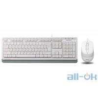 Комплект (клавіатура + миша) A4Tech Fstyler F1010 White UA UCRF