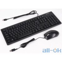 Комплект (клавіатура + миша) A4Tech KR-8572 Black UA UCRF