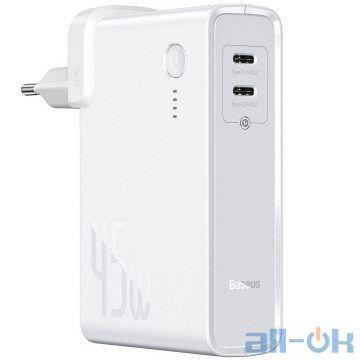 Внешний аккумулятор (Power Bank) Baseus Power Station 2-in-1 Quick Charger White (PPNLD-F02)