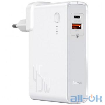 Внешний аккумулятор (Power Bank) Baseus Power Station 2-in-1 Quick Charger White (PPNLD-C02)