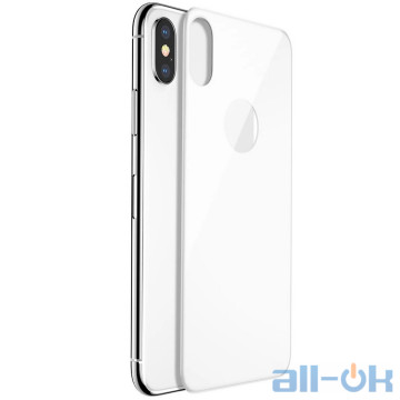 Защитное стекло для телефона Baseus Tempered Glass 0.3mm All-Coverage Arc-Surface для iPhone X/Xs Silver (SGAPIPHX-4D0S)