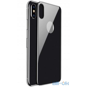 Защитное стекло для телефона Baseus Tempered Glass 0.3mm All-Coverage Arc-Surface для iPhone X/Xs Space Gray (SGAPIPHX-4D0G)