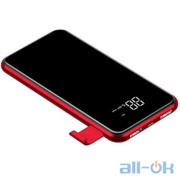 Внешний аккумулятор (Power Bank) Baseus Power Bank 8000mAh Full Screen Bracket Series Wireless Charging Red (PPALL-EX09)