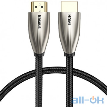 Кабель Baseus Horizontal HDMI 1m Silver/Black (CADSP-A01)