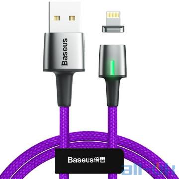 Кабель Lightning Baseus Zinc Magnetic Cable USB для iP 2.4A 1m Purple (CALXC-A05)