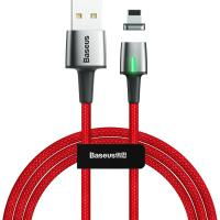 Кабель Lightning Baseus Zinc Magnetic Cable USB для iP 2.4A 1m Red (CALXC-A09)