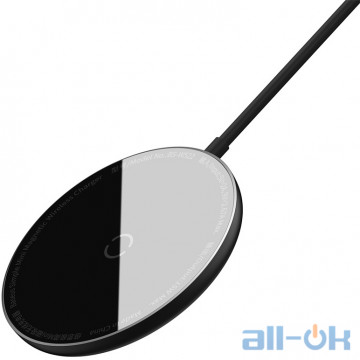 Беспроводное зарядное устройство BASEUS Simple Mini Magnetic Wireless Charger (WXJK-F01) Black