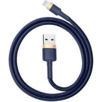 Кабель Lightning Baseus Cafule Cable USB для iP 2.4A 1m Gold+Blue (CALKLF-BV3)