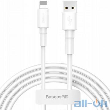 Кабель Lightning Baseus Mini White Cable USB для iP 2.4A 1м White (CALSW-02)