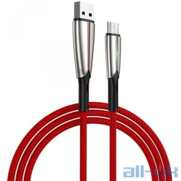 Кабель Micro USB Joyroom Time S-M399 LED MicroUSB 1.5m 3A Red