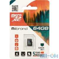 Карта памяти Mibrand 64 GB microSDXC Class 10 UHS-I MICDXU1/64GB
