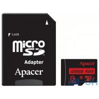 Карта памяти Apacer 128 GB microSDXC Class 10 UHS-I R85 + SD adapter AP128GMCSX10U5-R