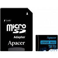 Карта памяти Apacer 128 GB microSDXC Class 10 UHS-I U3 + SD Adapter AP128GMCSX10U7-R