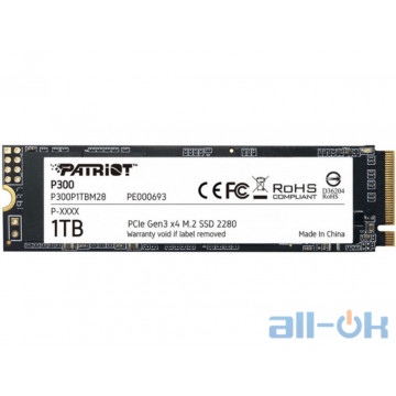 SSD накопитель PATRIOT P300 1 TB (P300P1TBM28)