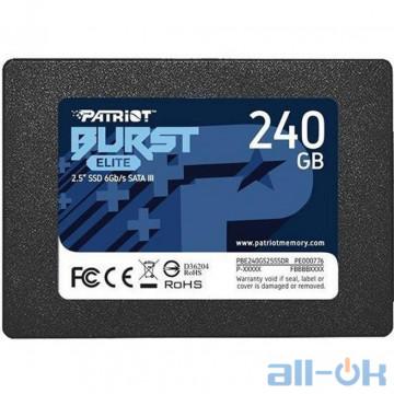 SSD накопитель PATRIOT Burst Elite 240 GB (PBE240GS25SSDR)