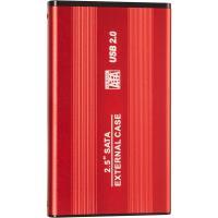 """Карман внешний для 2.5"""" HDD CASE U25 USB2.0 Red"""