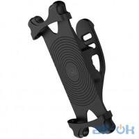 Вело-, мото-тримач для смартфона USAMS Bicycle Silicon Phone Holder US-ZJ053 Black