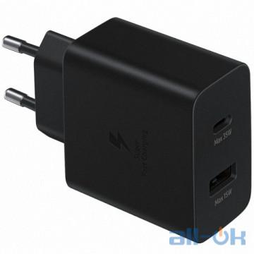 Зарядное устройство Samsung EP-TA220NBEGRU Power Adapter Duo (35W) Black