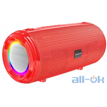 Акустика BOROFONE Young sports with colorful LED IPX5 BR13  BT, AUX, FM, TF, USB  red