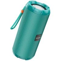 Акустика BOROFONE Smart sports BT speaker IPX5 BR15 |TWS, BT5.0, AUX, FM, TF, USB| peacock blue