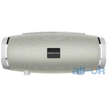 Акустика BOROFONE Rich sound sports wireless speaker IPX5 BR3 |TWS, BT5.0, AUX, FM, TF, USB| grey