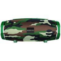 Акустика BOROFONE Rich sound sports wireless speaker IPX5 BR3 |TWS, BT5.0, AUX, FM, TF, USB| camouflage-green