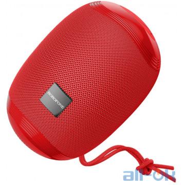 Акустика BOROFONE Miraculous sports wireless speaker IPX5 BR6 |BT5.0, TWS AUX, FM, TF, USB| red