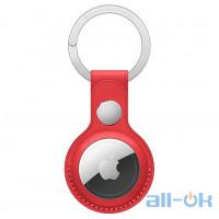 Чохол для пошукового брелока Apple AirTag Leather Key Ring Product Red (MK103)