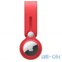 Чохол для пошукового брелока Apple AirTag Leather Loop Product Red (MK0V3)