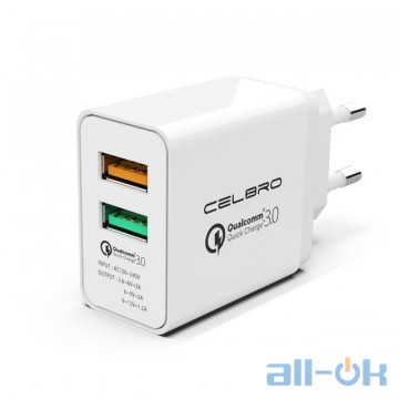 CELBRO 2 Ports USB Quick Charge 3.0