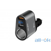 АЗУ CELBRO Car Quick Charger Dual LED дисплей CB-QCC006/CB-CC006 Silver