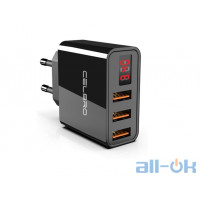 CELBRO 3 Ports USB Charger Black