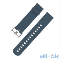 Ремешок Mijobs 20mm для Xiaomi Amazfit Bip Navy Blue