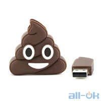 Флешка USB 16Gb poo shape Black