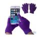 Рукавички для сенсорних екранів унісекс  Purple — інтернет магазин All-Ok. фото 1