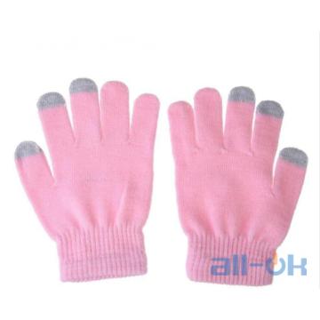 Рукавички для сенсорних екранів унісекс Pink
