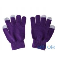 Перчатки для сенсорных экранов унисекс Purple