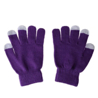 Рукавички для сенсорних екранів унісекс  Purple