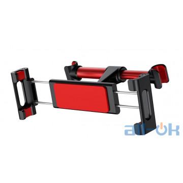 Автомобильный держатель на подголовник  Baseus 4.7″-12.9″ Black and Red