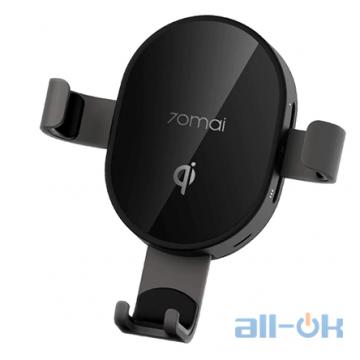Автомобильный держатель- беспроводная зарядка для смартфона Xiaomi 70mai Black