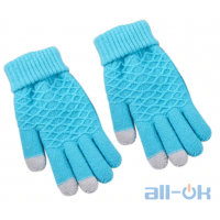 Зимние перчатки для сенсорных экранов унисекс Swokii Blue