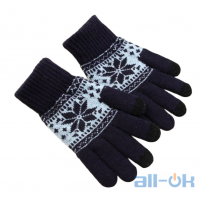Зимние перчатки для сенсорных экранов унисекс KLV Black