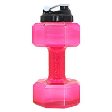 Спортивная бутылка гантеля для воды 2200 мл Pink