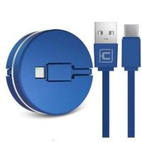 Кабель Cafele USB to Type C roulette portable Blue