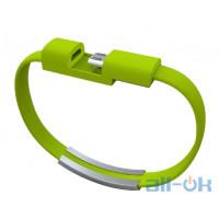 USB- microUSB браслет Green
